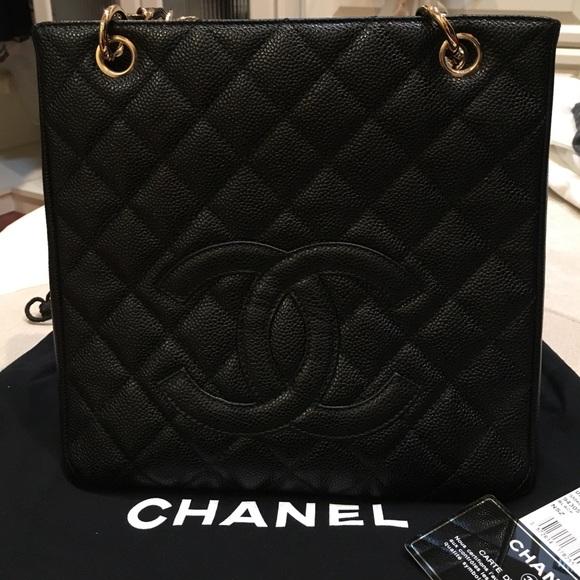 2341d6899798 CHANEL Bags | Petite Shopping Tote Pst Black Caviar | Poshmark