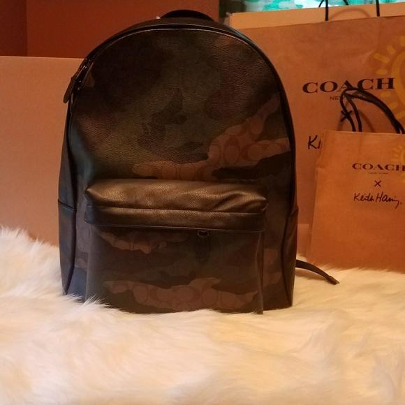 3d5eb7499f1a Coach Men s Camo Signature Backpack F59914