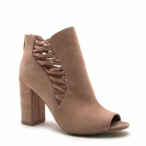 Shoes - 🆕🔥 Hartley Block Heel Peep Toe Bootie