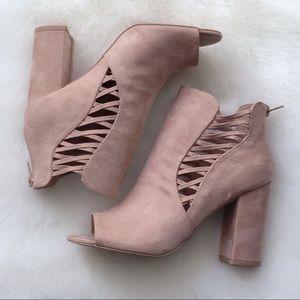 Shoes - HP‼️ Hartley Block Heel Peep Toe Bootie
