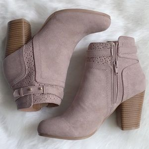Shoes - SALE‼️ Gianna Block Heel Bootie TAUPE