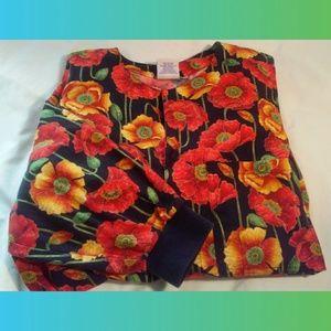 Scrubs Gorgeous Fall Colors L/S Jacket/Top~NWOTs L