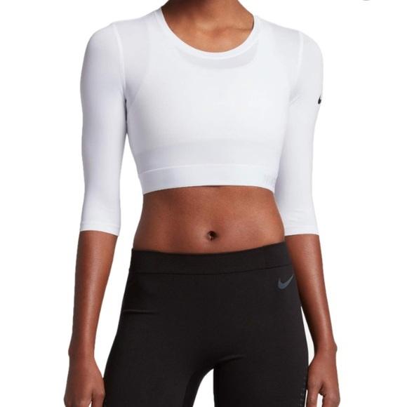 739016cfa213ff NIKE ~ hyper cool long sleeve crop sport shirt