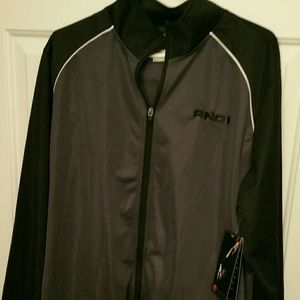 Men's And1 zip up new with tag black and gray