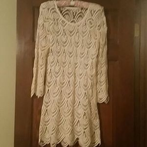 Other - Crochet ivory Lace coverup