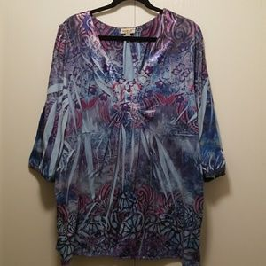 Tops - Blue Tunic Size 3X