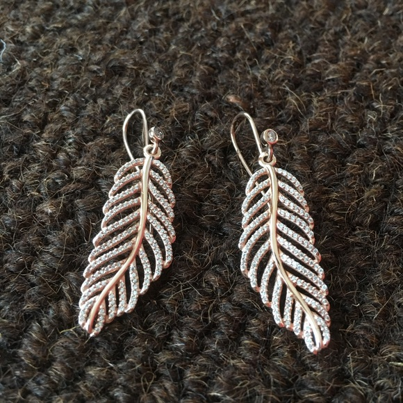 7304d8f56 Pandora Light as a Feather rose gold earrings. M_59a0dd3499086a30e2017e2a