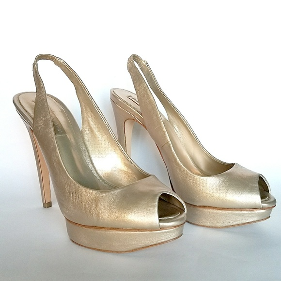 f34bb212170 BCBGMaxAzria Shoes - ⬇️BCBG MaxAzria Fennel Peep-Toe Sling-Back Pump