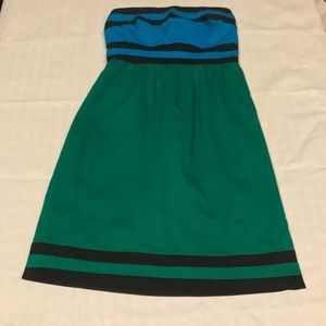 The Limited Strapless Color Block Dress Size 0