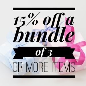 Receive 15% off with 3+ bundles!