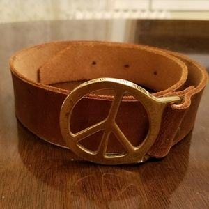Accessories - Vintage Peace Sign Belt