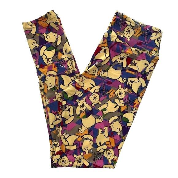 feecb2746be62 LuLaRoe Pants   Nwt Disney Smiley Winnie The Pooh Os Leggings   Poshmark