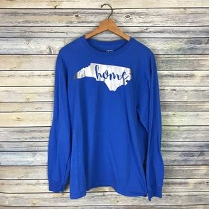 North Carolina Blue Home State Long Sleeve Tee