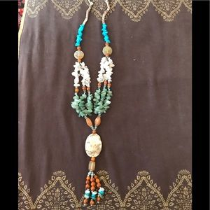 Jewelry - Afghan vintage antique stone necklace