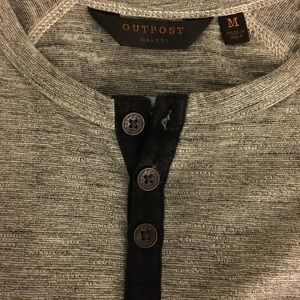 Long sleeve gray Outpost Henley