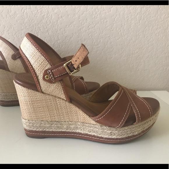5b5102df2773 Clarks Shoes - Clarks Artisan Amelia Air Indigo Wedges Sandals