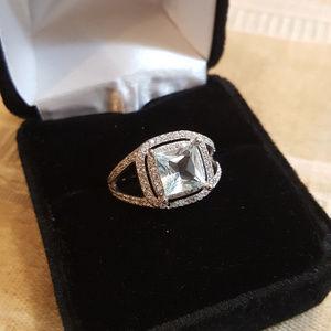 Jewelry - NWOT- Ring Blue Topaz - White Sapphire