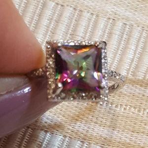 Jewelry - NWOT  - Ring Mystic Topaz-White Sapphires