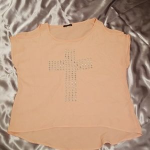 SOY Juniors  blouse with Cross
