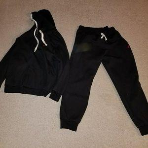 Polo by Ralph Lauren sweat suit black size 2xl use