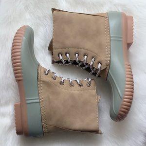 Shoes - 1 LEFT‼️ Sage Duck Boots Rain Boots