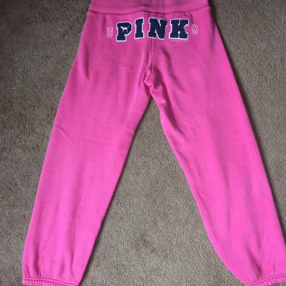 Victoria/'s Secret Pink Sweatpants Classic Fit Pant Bottoms Drawstring New Nwt Vs