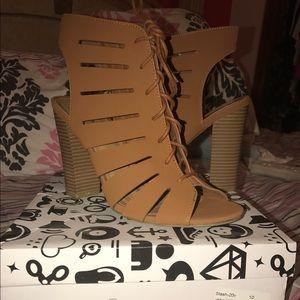 Cute Brown Block Heels