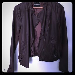 Express Faux Leather zip jacket