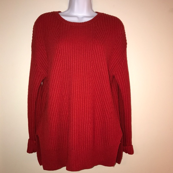 90% off GAP Sweaters - Gap New Nordic Red Boyfriend Sweater-Size S ...