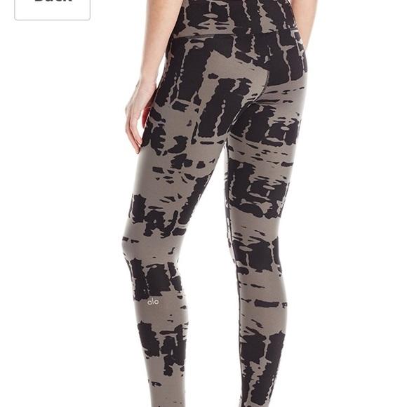 ed9cb745d1eb21 ALO Yoga Pants   Airbrush Legging In Black Tie Dye   Poshmark