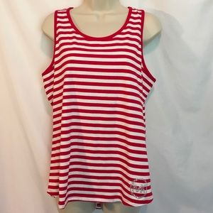 Michael Kors red and white tank top
