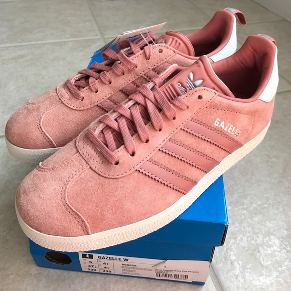 Nwt Adidas Gazelle Raw Pink Sneakers
