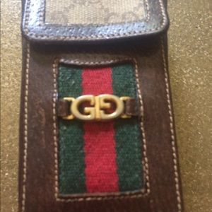 Gucci  vintage small pouch wallet gold GG logo