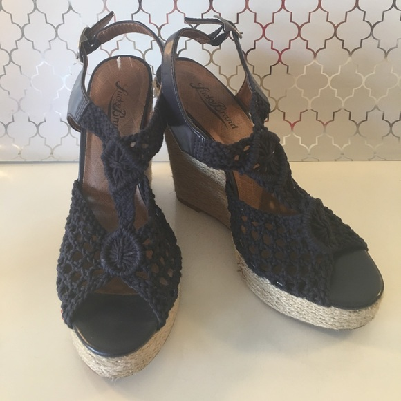 Lucky Brand Shoes - ⭐️LUCKY BRAND CROCHETED WEDGES 💯AUTHENTIC