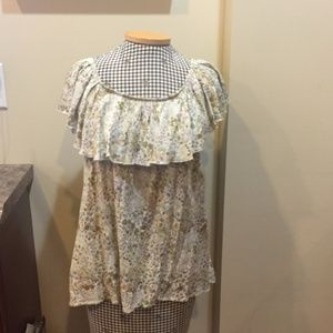 Mossimo for Target Floral Top Sz L