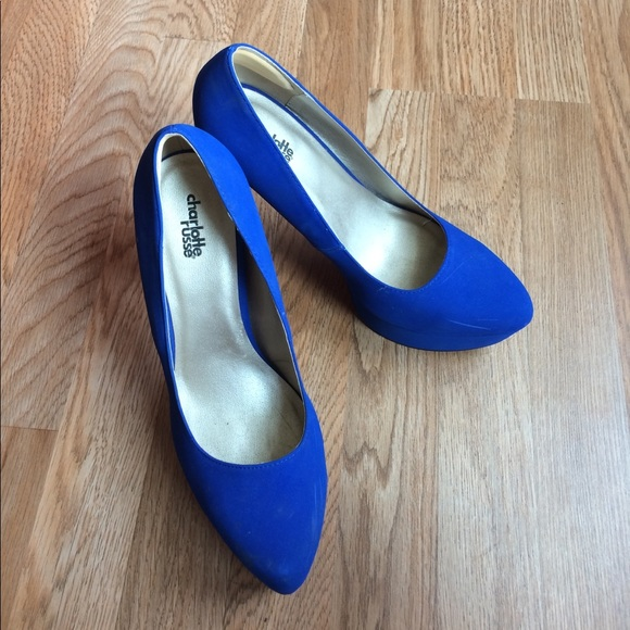 Charlotte Russe Shoes - CR blue high heels
