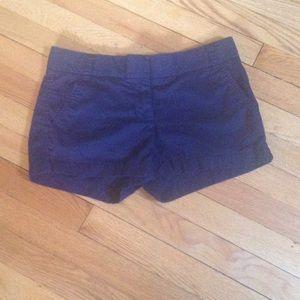 J.CREW cotton chino shorts navy blue