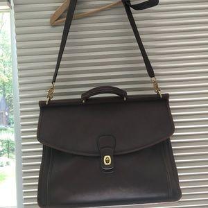 coach vintage leather briefcase