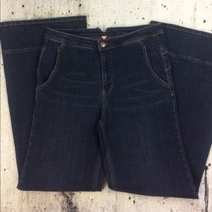 Free people high rise bell bottom jeans