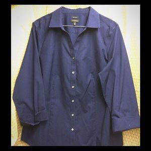 Euc Talbots's navy blouse