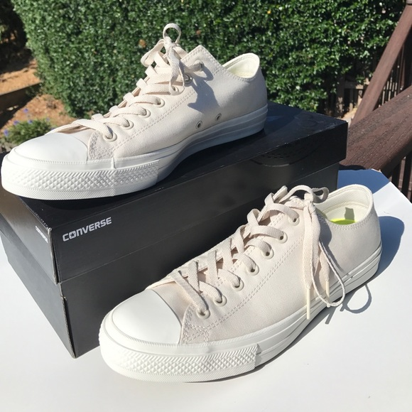 Converse Other - Converse All Star Off White Low Top Sneakers NWT