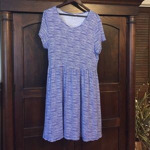 Old Navy blue/white stripe dress