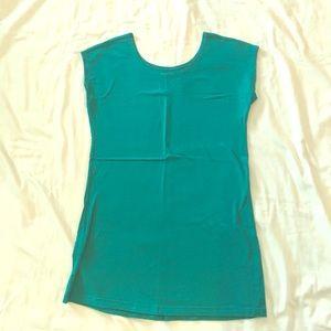 Mod Bod Cap Sleeve Layer Tee Turquoise Medium