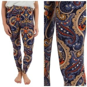 Paisley Print Leggings 4