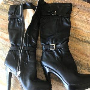 New Michael Kors Black knee high zipper boots!
