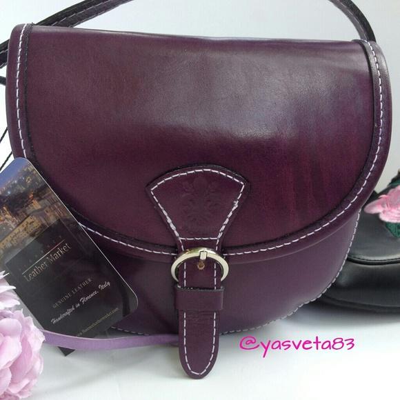 7af17daf52d SALE😄👍🌺Genuine Leather Crossbody Bag Italy Boutique