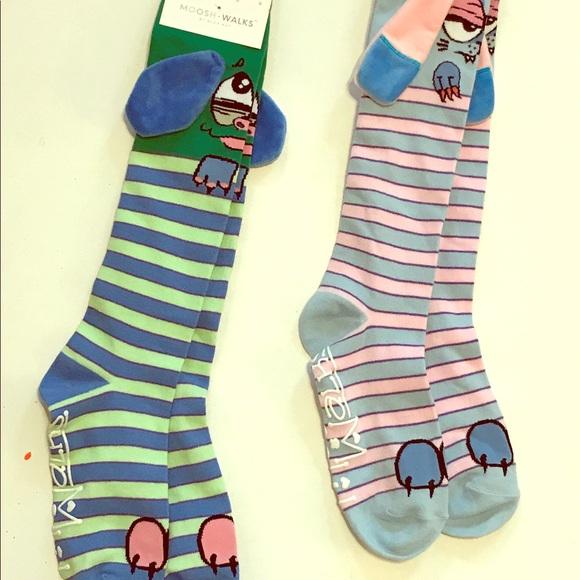 moosh walks other nwt kids stripped character knee socks poshmark