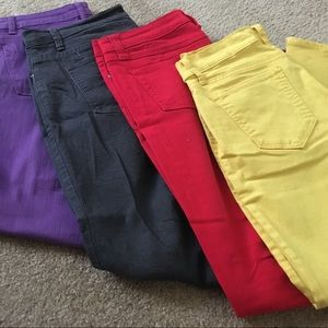 Denim - 4 pairs of colored jeans