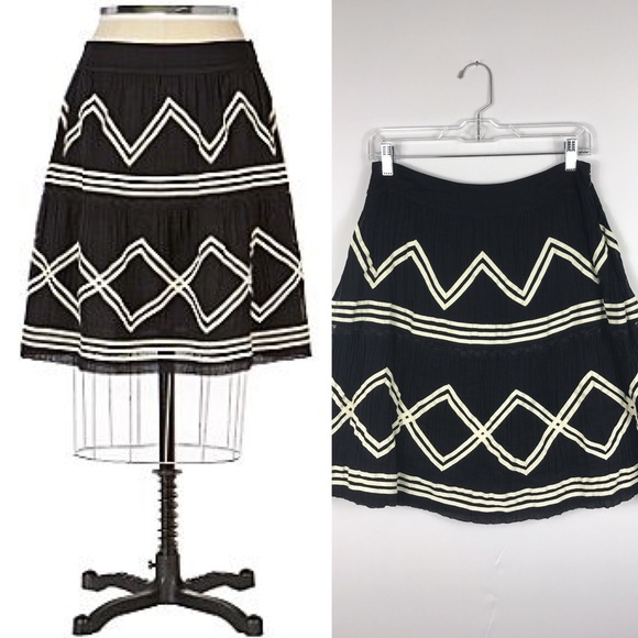 Anthropologie Dresses & Skirts - {Lil Anthro}Black Crooked Path A-line Skirt