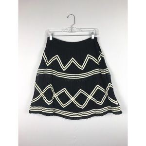 Anthropologie Skirts - {Lil Anthro}Black Crooked Path A-line Skirt